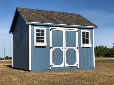 12x12 | Blue Siding | Onyx Black Roof