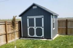 10x10 | Dark Grey Siding | Estate Grey Roof