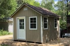 10x12 | Buckskin Siding | Brownwood Roof