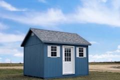 10x12 | Blue Siding | Sierra Grey Roof