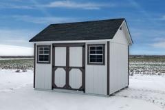 10x12 | White Siding | Onyx Black Roof