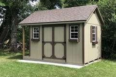 10x12 | Clay Siding | Teak Roof | 2' Deck