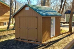 10x14 | Horizon Cedar Siding | Melchers Green Metal Roof