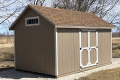 10x16 | Buckskin Siding | Desert Tan Roof