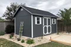10x16 | Dark Grey Siding | Onyx Black Roof