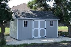 10x16 | Light Grey Siding | Estate Grey Roof