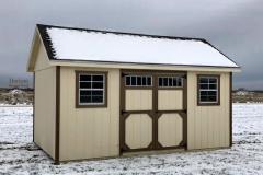 10x16 | Navaho White Siding | Teak Roof