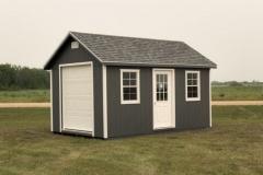 10x16 | Dark Grey Siding | Estate Grey Roof