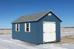 10x20 | Blue Siding | Sierra Grey Roof