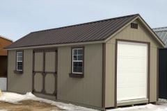 10x24 | ClaySiding | Coffee Brown Metal Roof