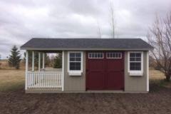12x14 | Clay Siding | Estate Grey Roof | 6' Deck