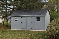 12x20 | Light Grey Siding | Estate Grey Roof