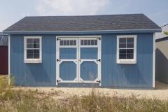 12x20 | Blue Siding | Onyx Black Roof
