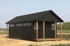 12x22 | Black Siding | Onyx Black Roof | 3' Decks