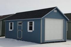 12x24 | Blue Siding | Onyx Black Roof