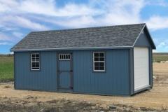 12x24 | Blue Siding | Estate Grey Roof