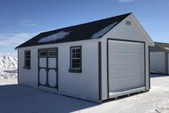 12x24 | White Siding | Estate Grey Roof