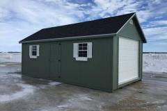 12x24 | Earth Green Siding | Onyx Black Roof