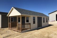 12x24 | Navaho White Siding | Estate Grey Roof | 6' Deck
