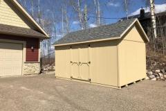 10x16 | Beige Siding | Estate Grey Roof