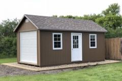 10x20 | Quaker Tan Siding | Driftwood Roof