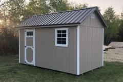 8x14 | Buckskin Siding | Metro Brown Metal Roof