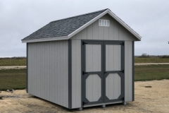 8x12 | Light Grey Siding | Estate Grey Roof