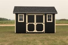 8x14 | Black Siding | Onyx Black Roof