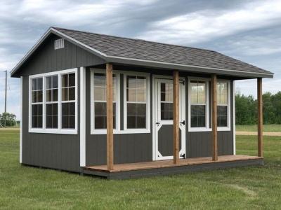 9x16 | Castlemore Siding | Driftwood Roof | 3' Deck