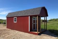 10x20 | Mountain Red Siding | Estate Grey Shingles | 4' Deck