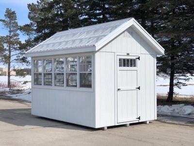 8x12 White Greenhouse