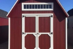 10x16 | Red Siding | Onyx Black Roof