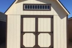 12x16 | Beige Siding | Brownwood Roof