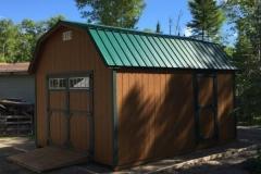 12x16 | Horizon Cedar Siding | Green Metal