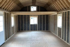 14x34 High Barn Interior