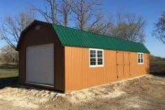 14x40 | Horizon Cedar Siding | Melchers Green Metal