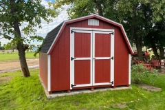 10x12 | Mountain Red Siding | Onyx Black Roof
