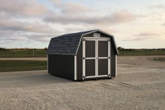8x12 | Smokehouse Grey Siding | Estate Grey Shingles