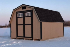 10x12 | Clay Siding | Onyx Black Roof