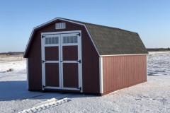 10x16 | Pinnacle Red Siding | Onyx Black Roof