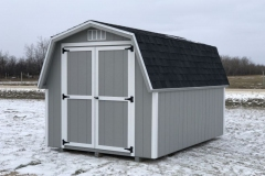 8x12 | Light Grey Siding | Onyx Black Roof