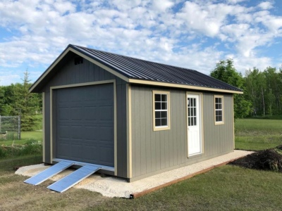 12x20 | Castlemore Siding | Black Metal Roof