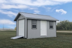10x16-Platinum-Shed-with-Light-Grey-Siding-and-Grey-Metal