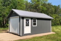 12x20 | Dark Grey Siding | Zinc Metal Roof