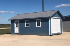 12x24 | Blue Siding | Zinc Grey Metal