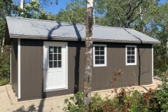 12x24 | Smokehouse Grey Siding | Zinc Grey Metal