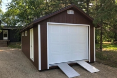 12x28 | Chestnut Siding | Coffee Brown Metal Roof