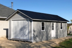 12x28 | Light Grey Siding | Black Metal Roof