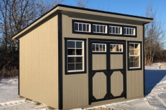 10x12 |  Clay Siding | Onyx Black Shingles