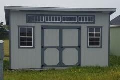 10x16   Light Grey Siding   Estate Grey Shingles